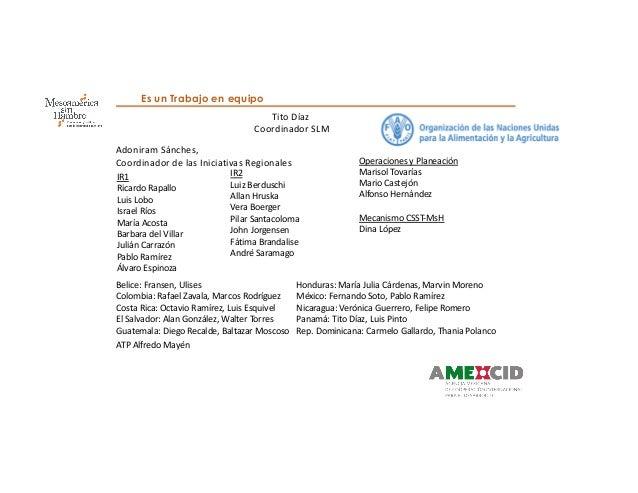Programa FAO: Mesoamérica sin Hambre Slide 3