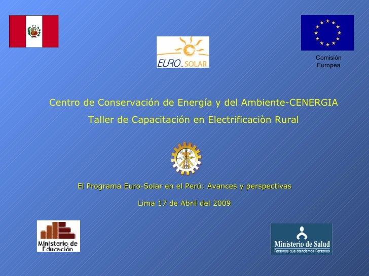 Comisión                                                                  Europea     Centro de Conservación de Energía y ...