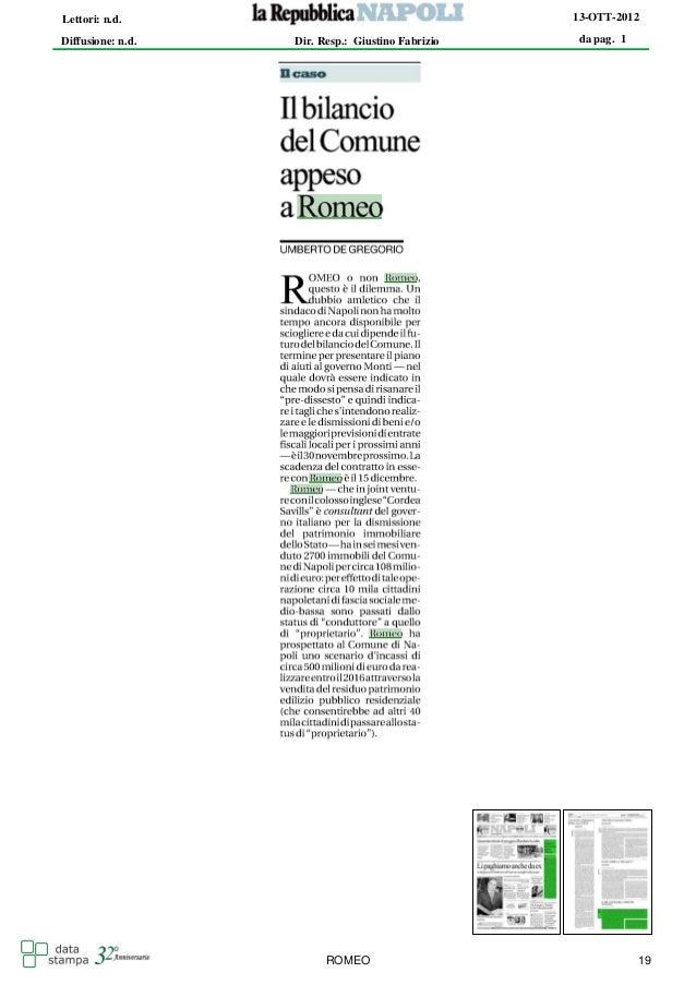 Lettori: n.d.                                      13-OTT-2012Diffusione: n.d.   Dir. Resp.: Giustino Fabrizio   da pag. 1...