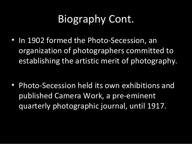 A brief biography of alfred stieglitz and his photographic journal camera notes