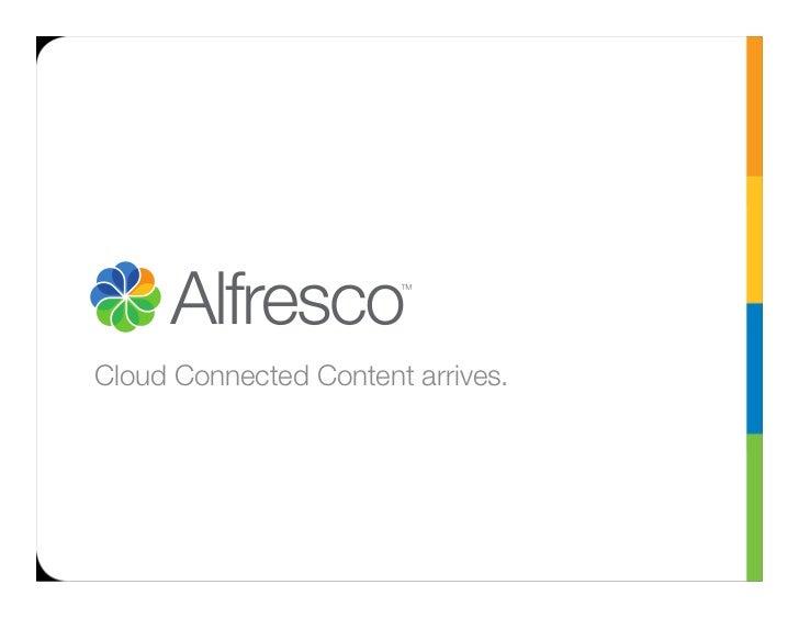 Cloud Connected Content arrives.