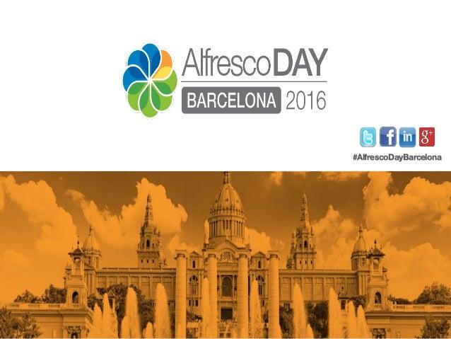 #AlfrescoDayBarcelona