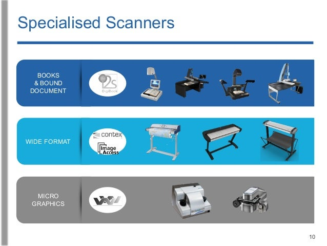 10 Specialised Scanners BOOKS & BOUND DOCUMENT MICRO GRAPHICS WIDE FORMAT