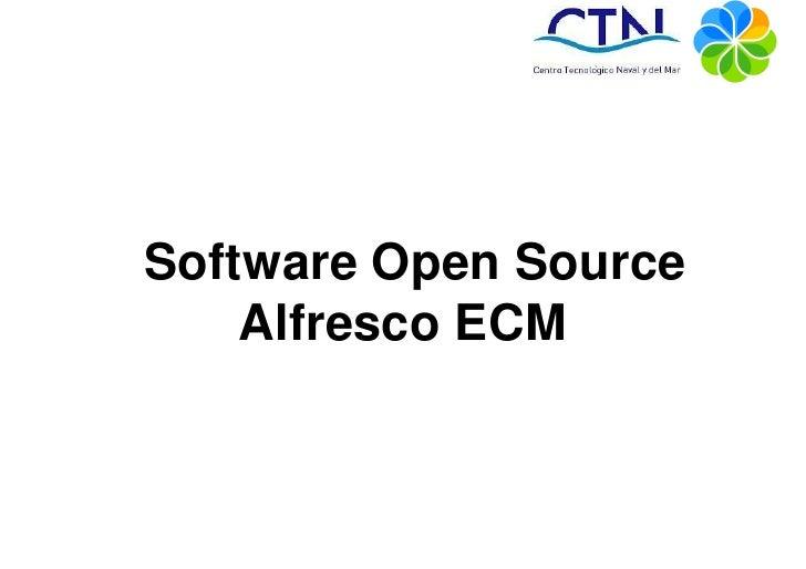 Software Open Source    Alfresco ECM
