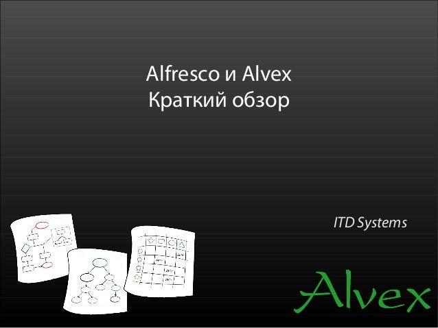 Alfresco и AlvexКраткий обзор                   ITD Systems