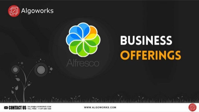 Know more : http://www.algoworks.com/ecm/alfresco-development