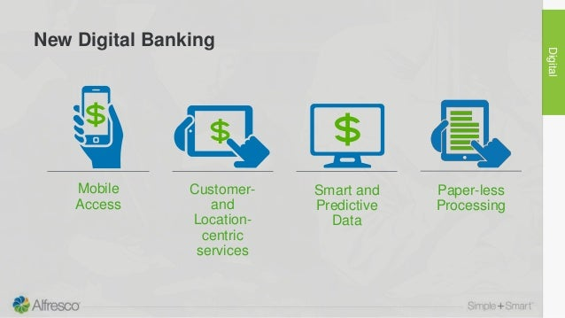 Mobile Access Customer- and Location- centric services Smart and Predictive Data Paper-less Processing New Digital Banking...