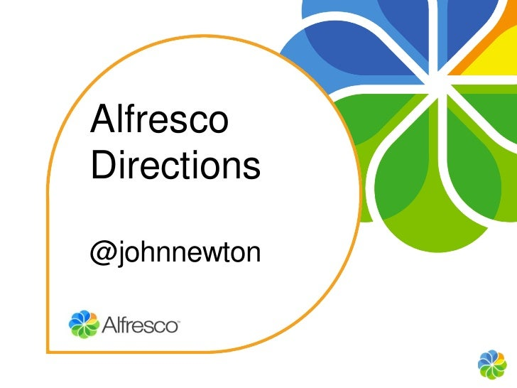 Alfresco    DirectionsClick to edit Master subtitle style    @johnnewton