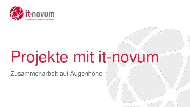 Projekte mit it-novum Zusammenarbeit auf Augenhöhe