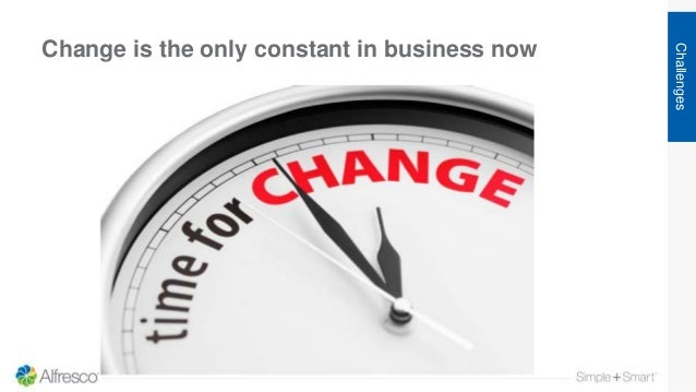 Change is the only constant in business now Challenges