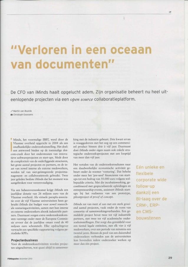 Verloren in een oceaan van documenten