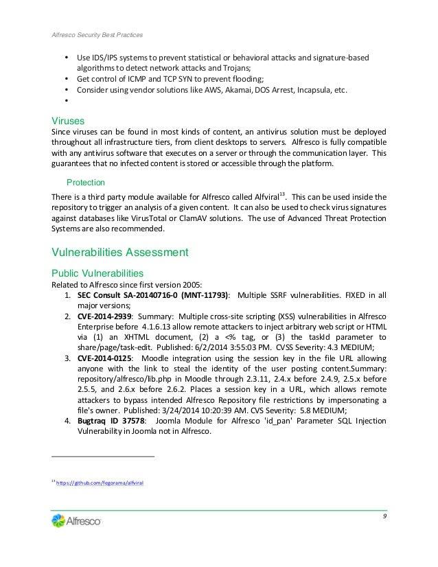 Alfresco Security Best Practices Guide