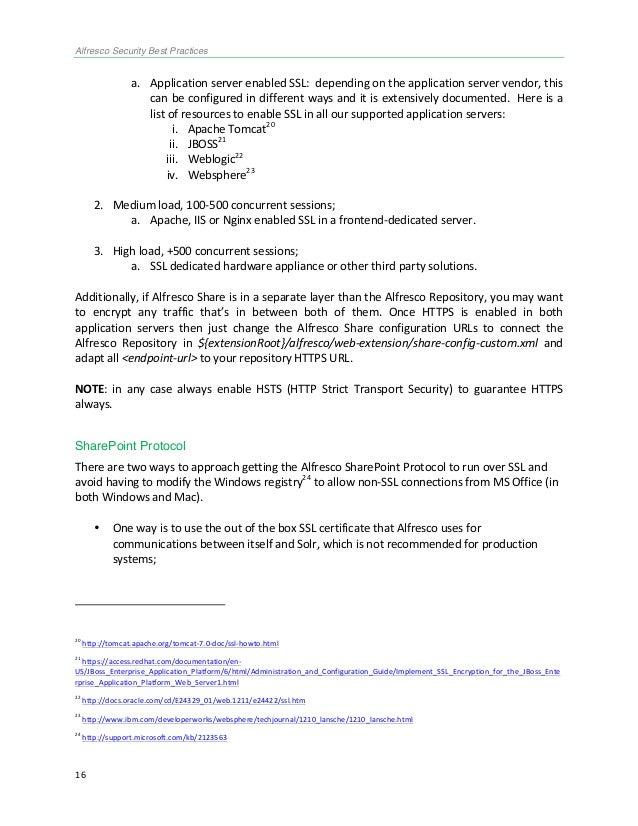 alfresco security best practices guide rh slideshare net Network Security Best Practices Application Security Best Practices