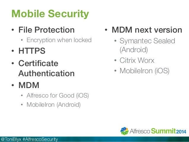 alfresco security best practices 2014