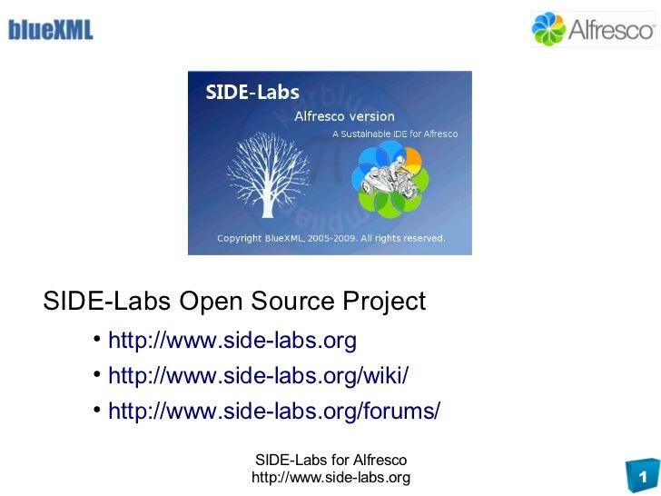 SIDE-Labs Open Source Project    ●        http://www.side-labs.org    ●        http://www.side-labs.org/wiki/    ●        ...