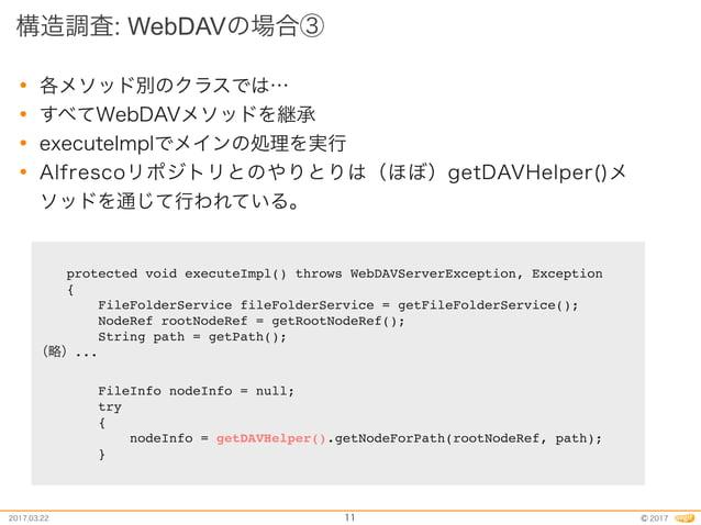 public class WebDAVHelper extends org.alfresco.repo.webdav.WebDAVHelper { public List<FileInfo> getChildren(FileInfo fileI...