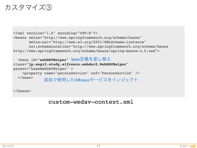 Alfresco study presentation 38th customize How-To WebDAV
