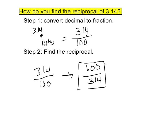Alg 1 3 6 Reciprocals And Division