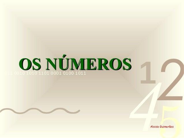 4210011 0010 1010 1101 0001 0100 1011 Aloisio Guimarães OS NÚMEROSOS NÚMEROS
