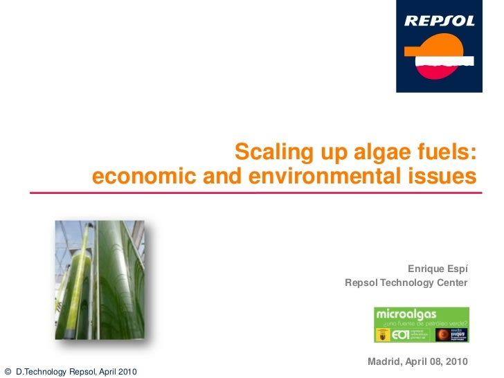 Scaling up algae fuels:                      economic and environmental issues                                            ...