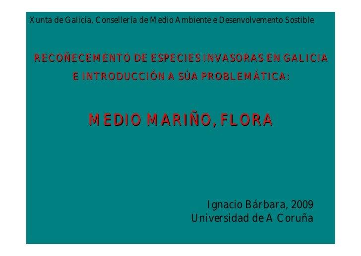 Xunta de Galicia, Consellería de Medio Ambiente e Desenvolvemento Sostible RECOÑECEMENTO DE ESPECIES INVASORAS EN GALICIA ...