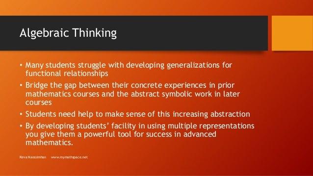 Algebraic thinking Slide 2