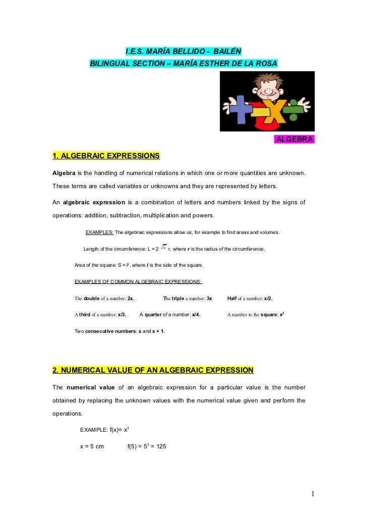 I.E.S. MARÍA BELLIDO - BAILÉN                BILINGUAL SECTION – MARÍA ESTHER DE LA ROSA                                  ...