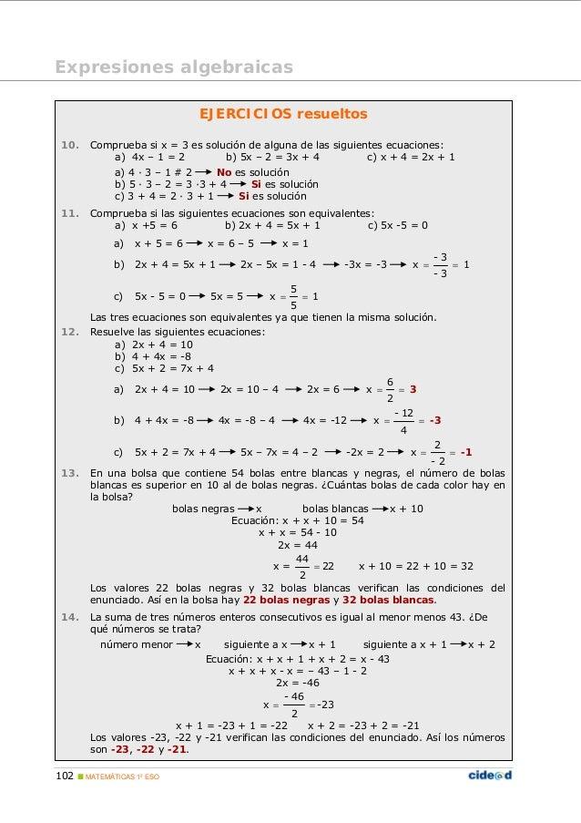 Algebra para primaria