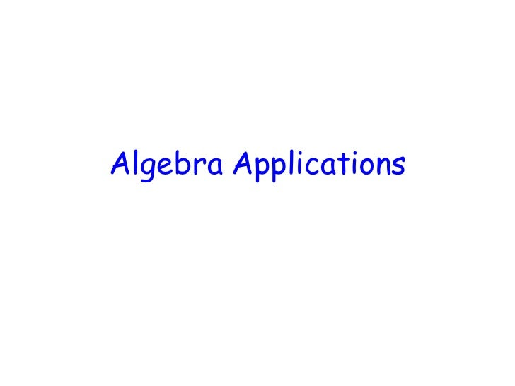 Algebra Applications