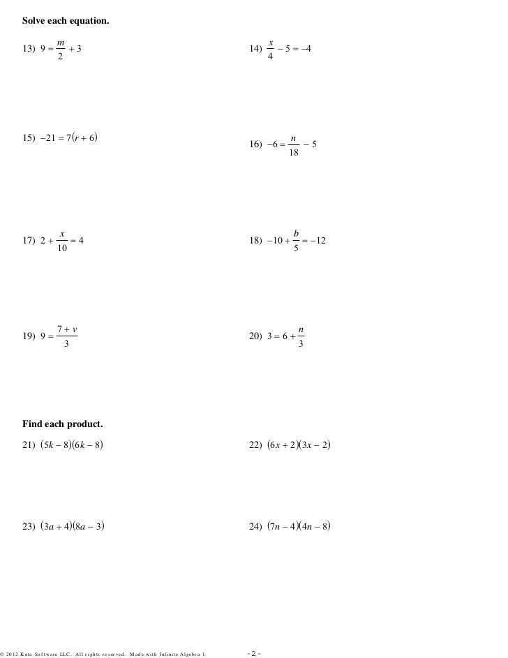 Algebra Readiness Assignment - 3Sets pdf