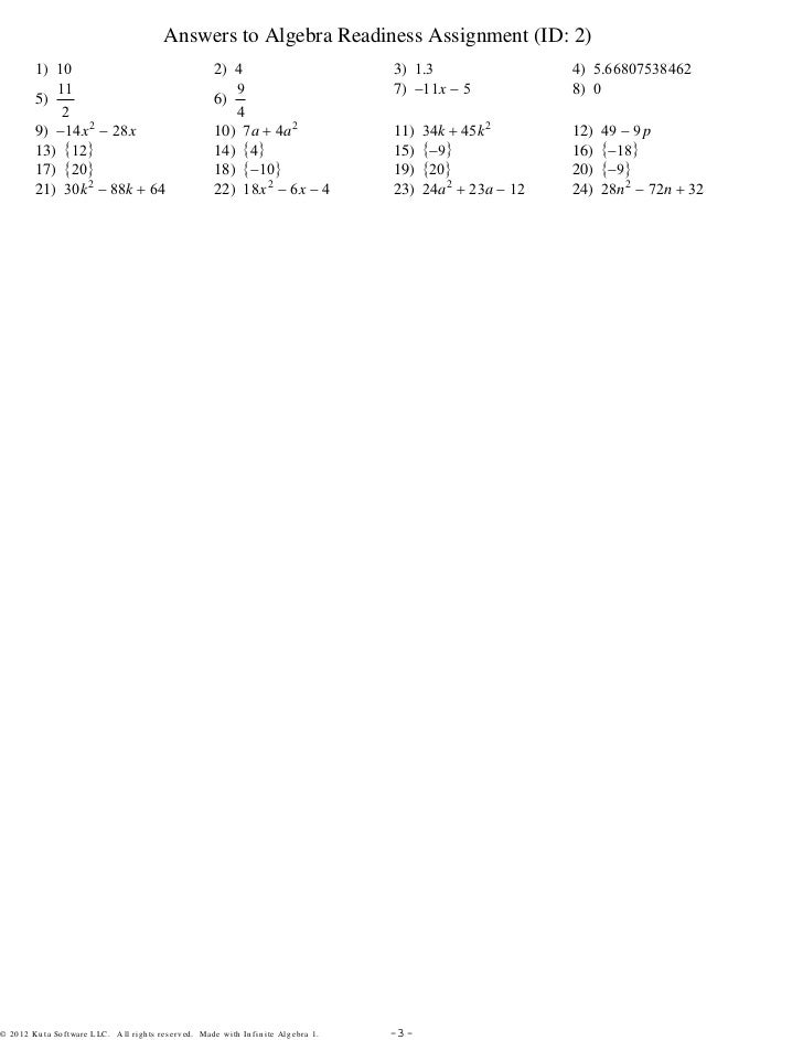 Algebra Readiness Assignment 3Setspdf – Algebra Readiness Worksheets