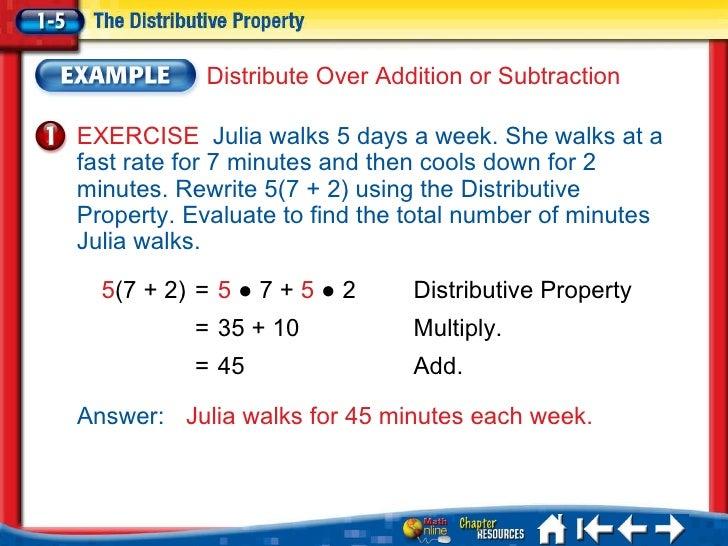 Algebra 1 distributive property