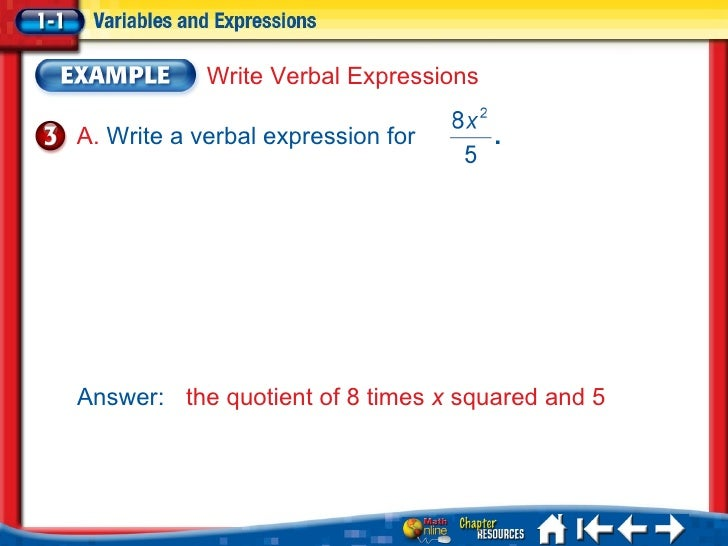 Write as a mathematical expression the product of 5 and x symbol