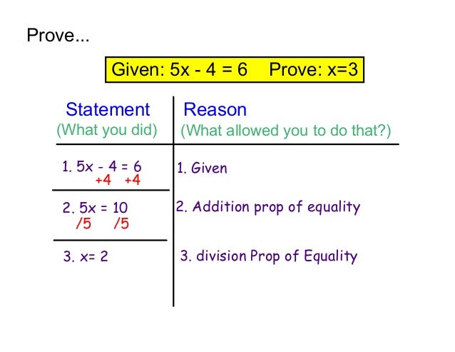 given and prove statement