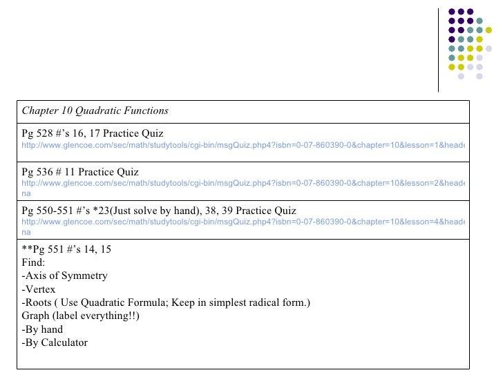 Algebra 1 final review packet powerpoint slide