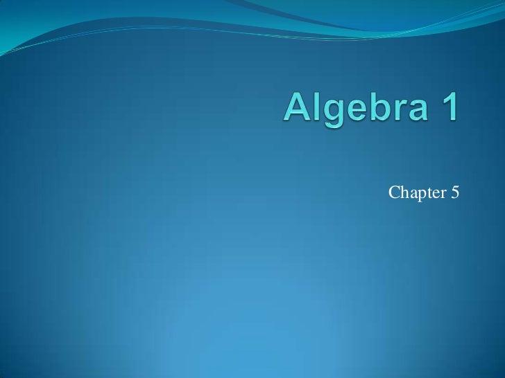 Algebra 1 power pointlr