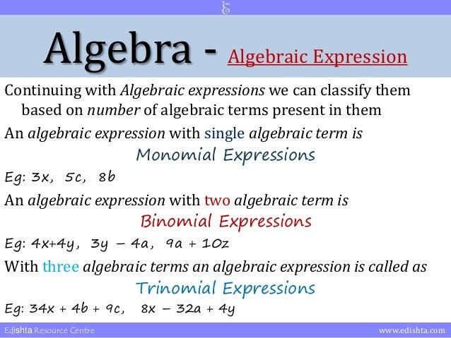 terms in algebra