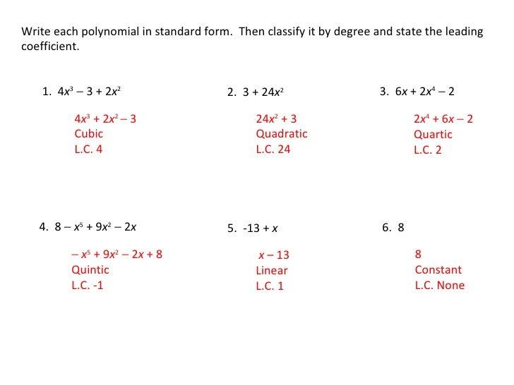 Algebra 2 51 Class Notes