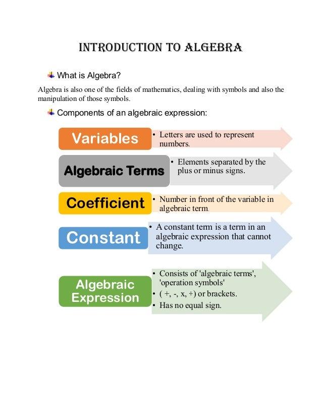 Algebra booklet Slide 2