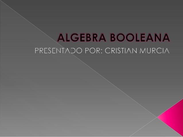   Las álgebras booleanas, estudiadas por primera vez en detalle por George Boole , constituyen un área de las matemáticas...