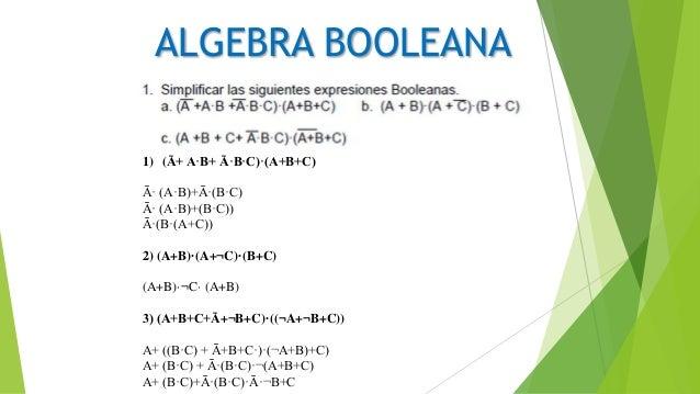 Algebra booleana taller 1 Slide 2