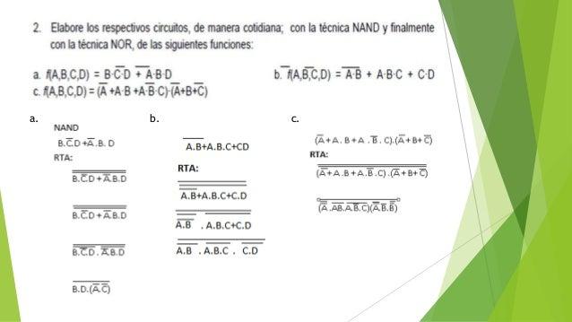 Algebra booleana taller 1 Slide 3
