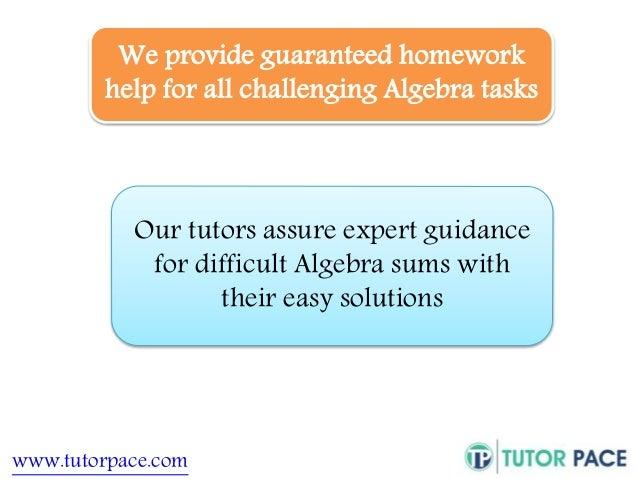 Algebra homework service
