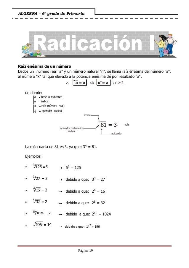 Algebra - I bimestre.