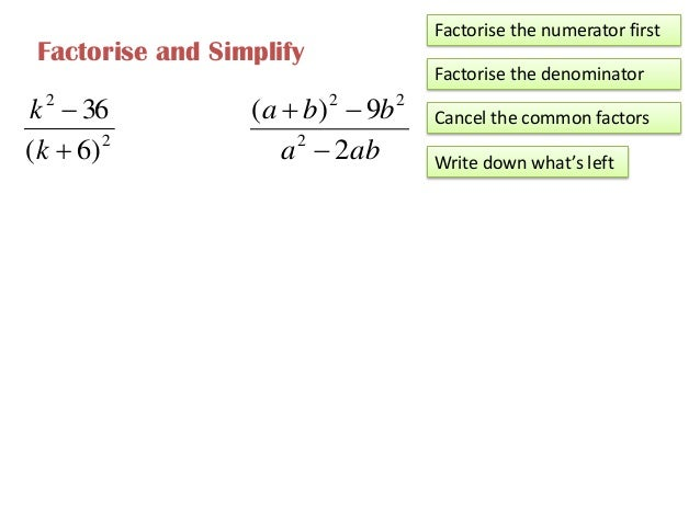 Pmr Form 3 Mathematics Algebraic Fractions