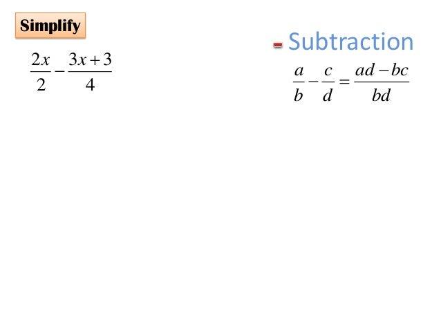 PMR Form 3 Mathematics Algebraic Fractions – Multiplication and Division of Algebraic Fractions Worksheet