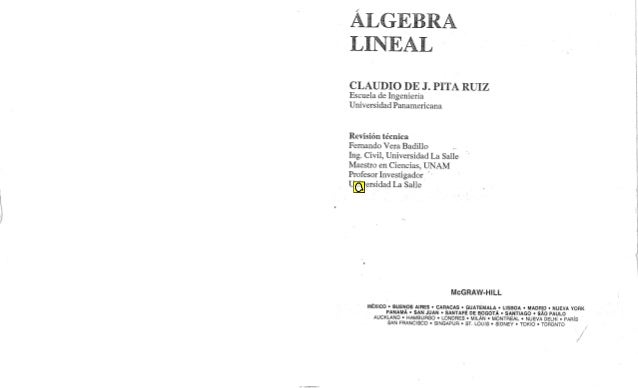 Algebra lineal - Claudio Pita Ruiz