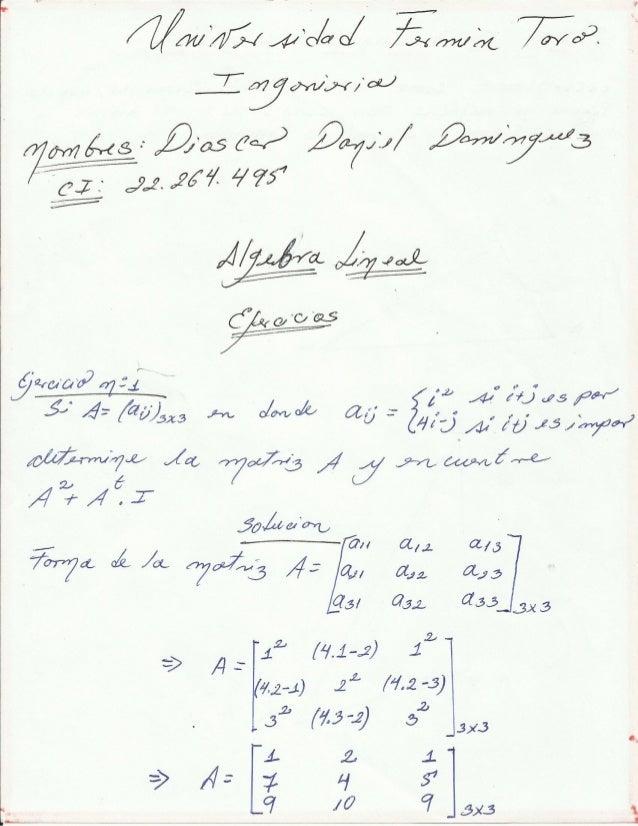 Algebra lineal  dioscar  dominguez