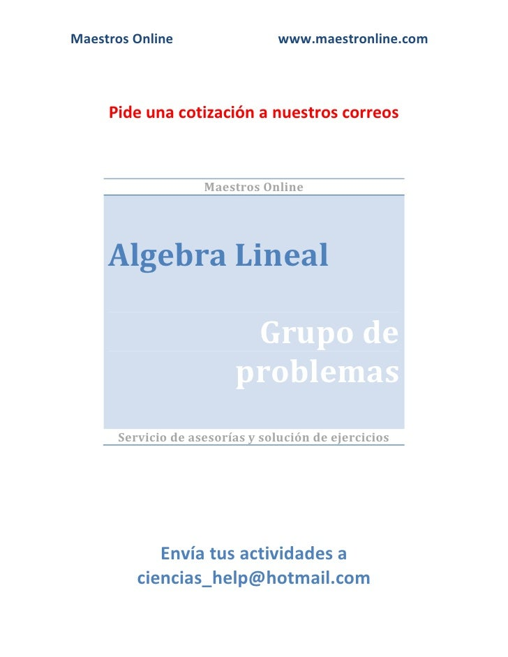 Algebra Lineal Esad 2