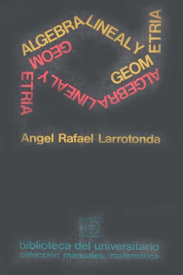 Algebra lineal y_geometria